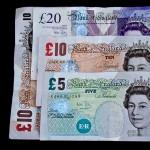money pounds cash