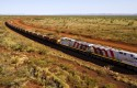 Rio Tinto train in the Pilbara region of Western Australia; mining