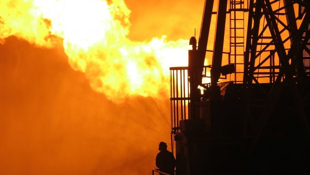 Oil & gas rig flare, energy