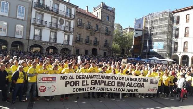 ep manifestacion trabajadores alcoa aviles