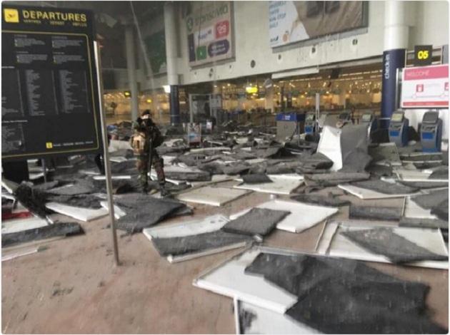 mostradores aeropuerto bruselas
