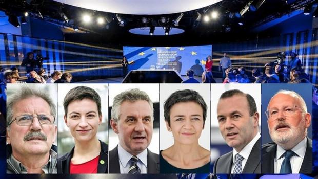 ep 26m- debate- los principales candidatos europeos pidense votelucharlos nacionalismosla union