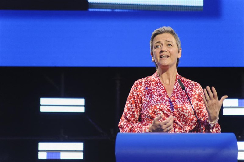 ep 27 may 2019 belgium brussels european union competition commissioner and candidate for the president of the european commission margrethe vestager speaks duringpress conference after the results of the european elections photo nicolas landemard
