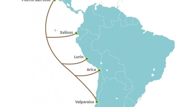 ep esquemadespliegueun cable submarinoparteamerica moviltelxius telefonica encosta latinoamericanapacifico