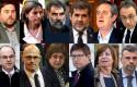 ep montaje con los rostros de los lideres independentistas del 1-o y presos del procs a menos de dos