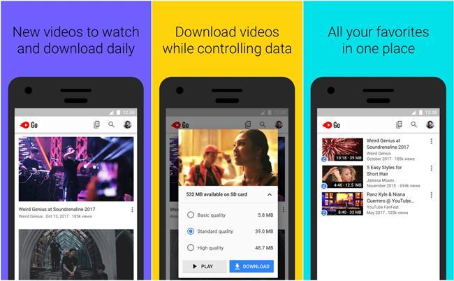 Google lanza YouTube Go, su nueva 'app' para descargar vídeos y verlos 'offline', en países con conexión inestable