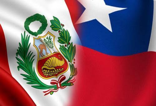 chile peru bandera