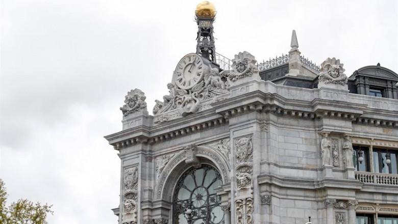 ep fachada del banco de espana durante el primer dia de la cuarta semana de estado de alarma
