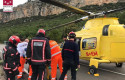 ep castellon- sucesos- rescatadomotorista atrapadocolector fluvialla cunetauna carreteraforcall