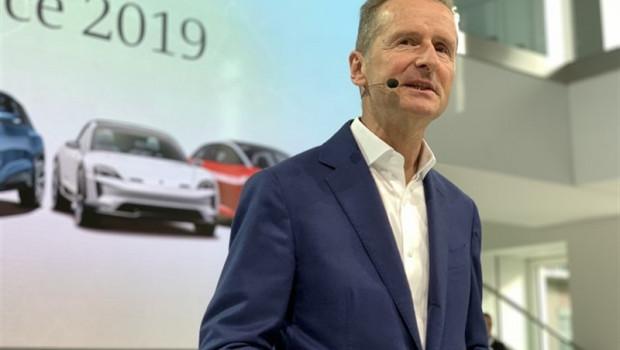ep herbert diess consejero delegado del grupo volkswagen en la conferencia anual de prensa 2019 de