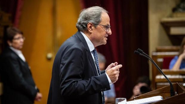 ep el presidente de la generalitat quim torra durante su intervencion en el debate sobre politica