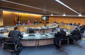 ep la vicepresidenta segunda y ministra de asuntos economicos nadia calvino encabeza una reunion con