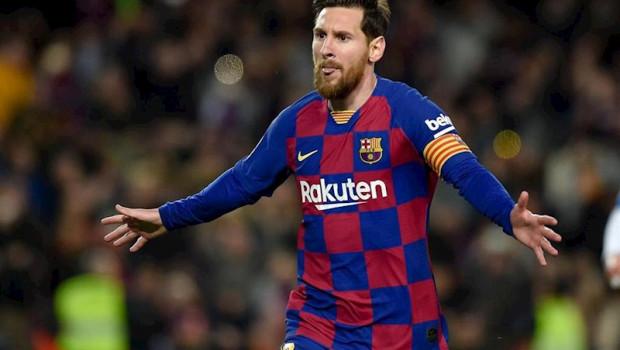 ep leo messi celebrando un gol con el fc barcelona