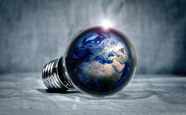 bombilla luz mundo planeta