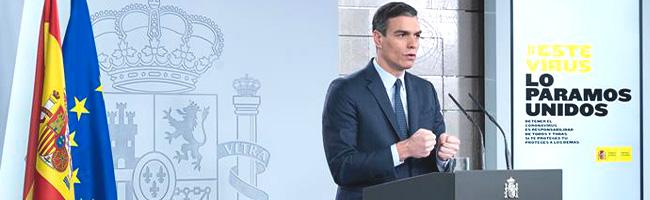 Sánchez anuncia que la hibernación de la economía finalizará el 9 de abril