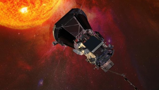 ep illustration of the parker solar probe spacecraft approaching the sun