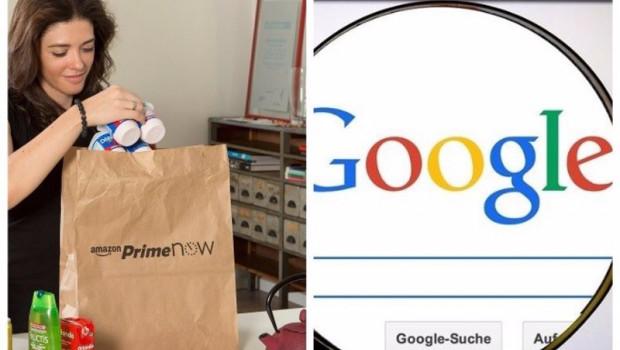 ep archivo   collage de las marcas amazon y google