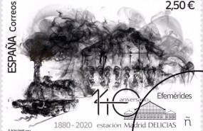 ep sello conmemorativo del 140 aniversario de la estacion delicias de madrid