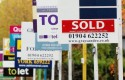 house prices housing signs