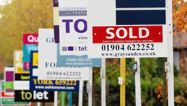House prices show lowest growth for two years